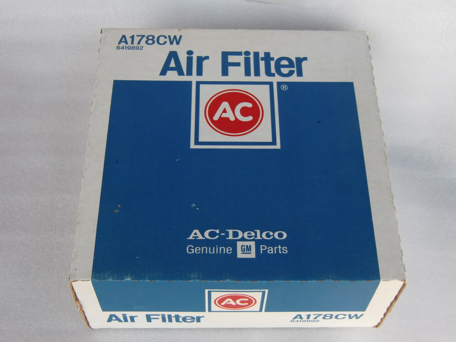 ACDelco A178CW Air Filter Fits S-10 Blazer Chevrolet GMC