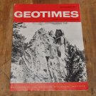 GEOTIMES 1964 September Vol.9, No.2 American Geological Institute Journal Magazine