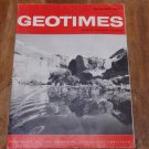 GEOTIMES 1964 November Vol.9, No.4 American Geological Institute Journal Magazine