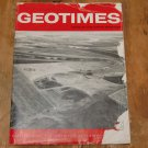 GEOTIMES 1966 July-August Vol.11, No.1 American Geological Institute Journal Magazine