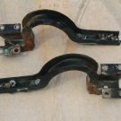 Engine hood lid rear trunk hinges, pair, used 1960 Chevrolet Corvair, model 700, 6 cyl., 4 dr