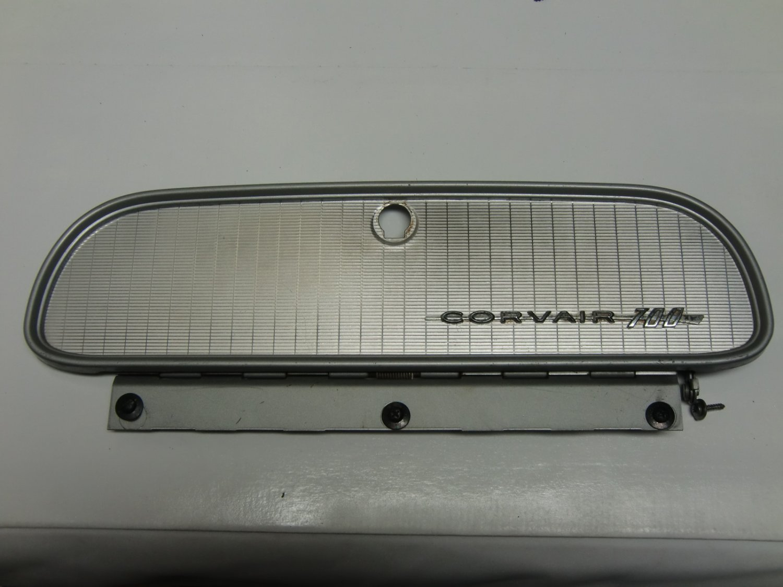 RARE! Original glove box lid door, with hinge, used 1960 Chevrolet Corvair, model 700, 4 dr