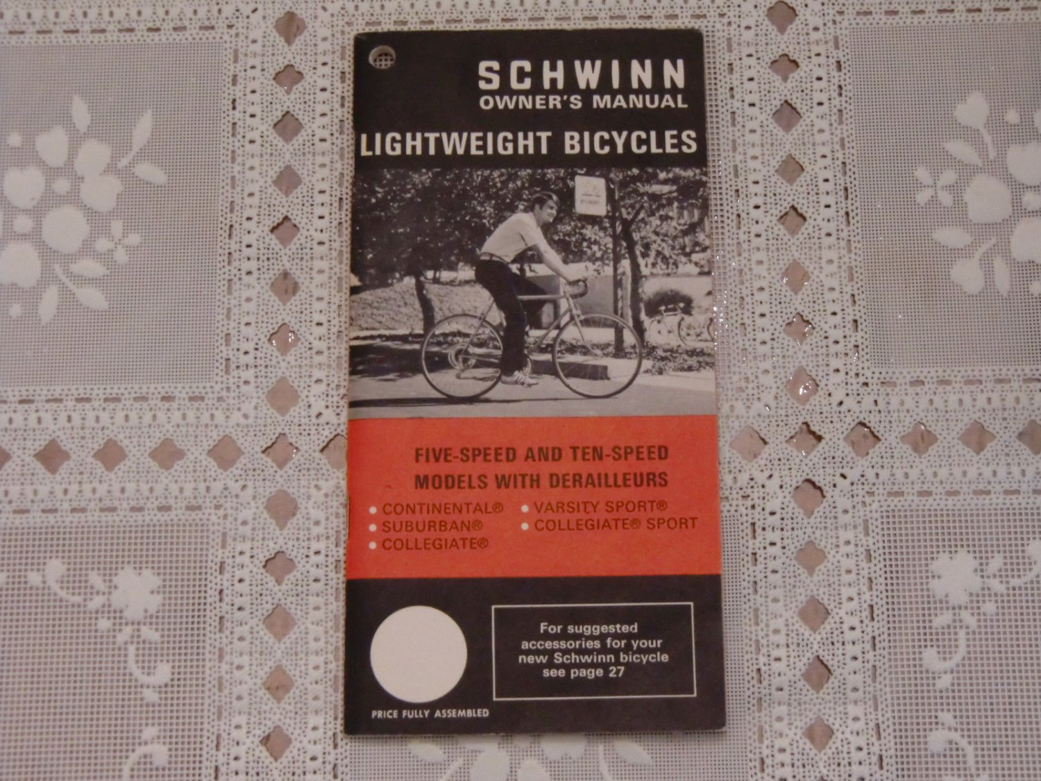 Schwinn Owner's Manual Lightweight Bicycle Five Ten Speed Continental Suburban