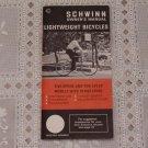 Schwinn Owner's Manual Lightweight Bicycle Five Ten Speed Continental Suburban