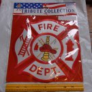 "NEW! Fire Department Patch Heros Welcome Large 12""x12"" Hook Ladder Hydrant Axe"
