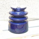 Large Cobalt Blue Power Insulator Mad Scientist Steampunk Electric Industrialart