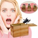 Wooden Prank SPIDER Scare Box Funny Practical Joke Gag Toy Trick Random Animals