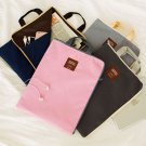 Document Bag A4 Canvas File Organizer Case Handle Messenger Briefcase Bags NEW