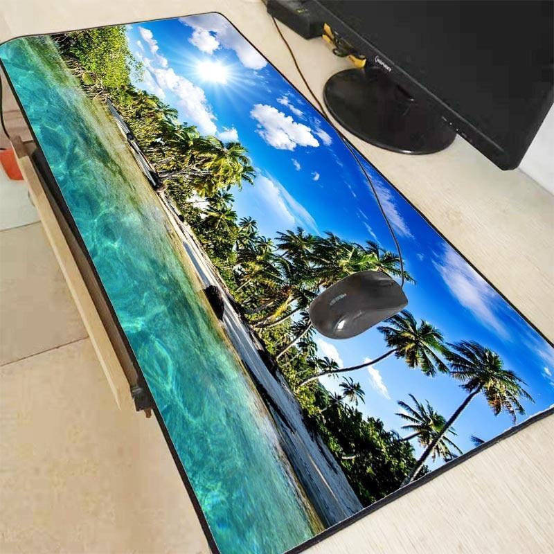 Palm Trees Beach 400X900X4MM Mouse Pad