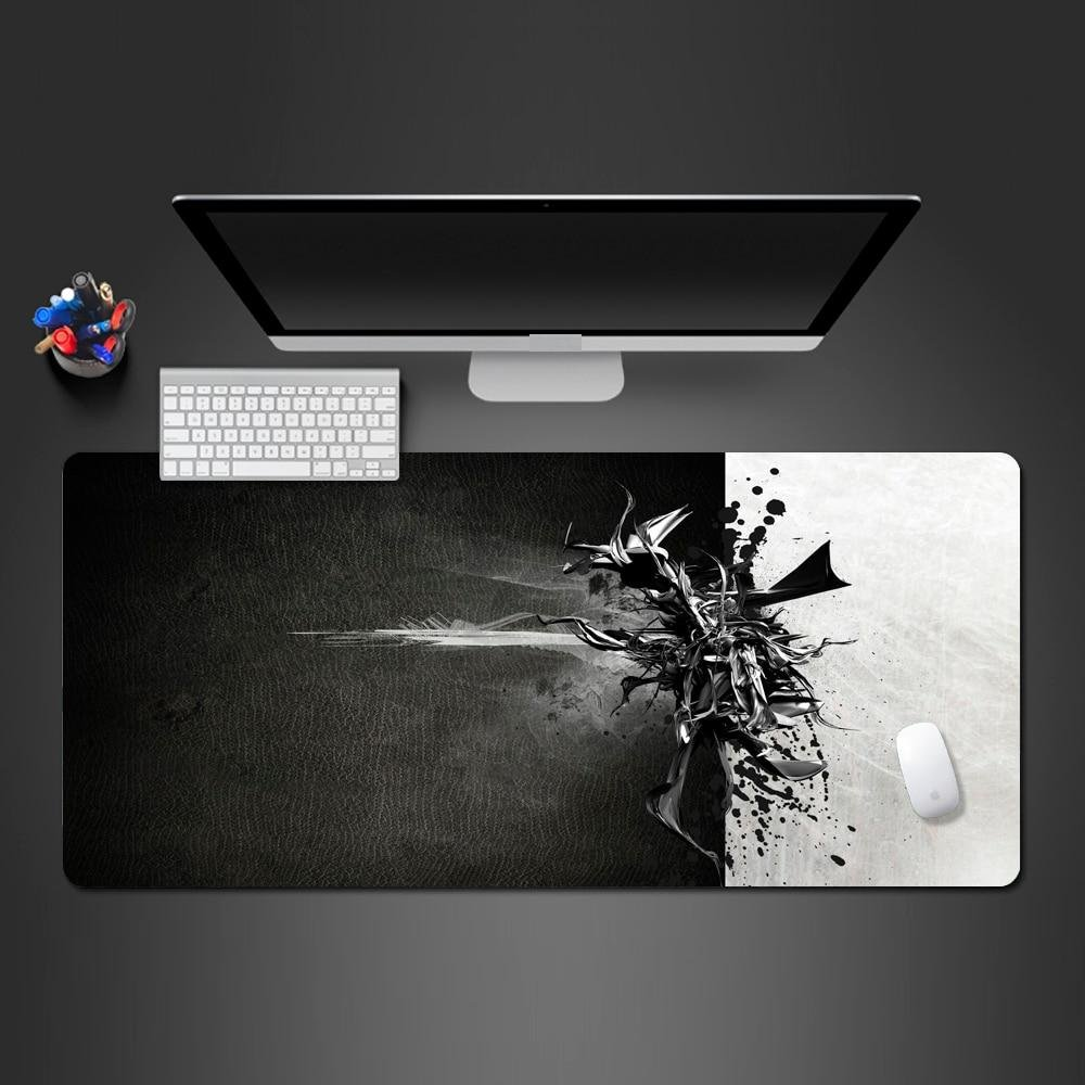 Black And White 900X300X2MM Mouse Pad
