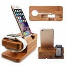 2-in-1 Real Bamboo Wood Desktop Stand