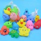 Baby Bath Toys Animal Rubber Toys