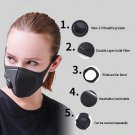 10PCS Mask With Breathing Valve Breathable Filter