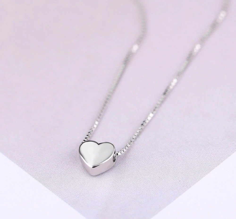 Sterling Silver Love Heart Necklaces for Women