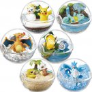 Cute Pokemon Transparent Ball Figures 6Pcs With Box