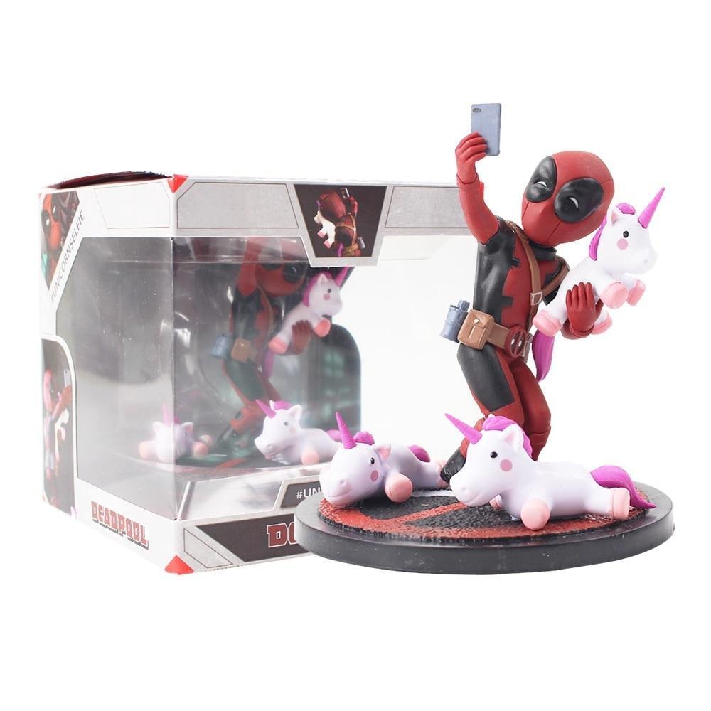 Deadpool Funny Unicorn Selfie Action Figure With Box