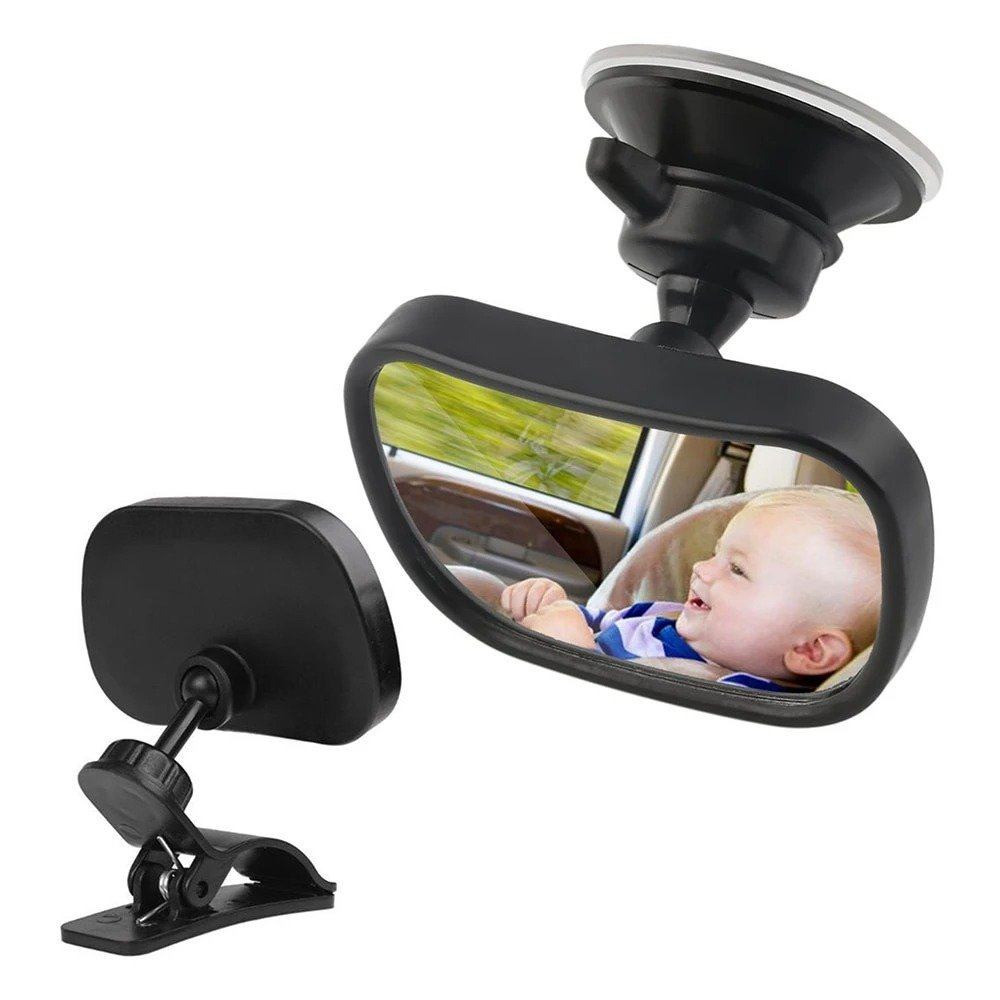 2 in 1 Mini Car Safety Back Seat Mirror
