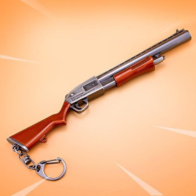 Fortnite 17CM Pump Gun Weapon Model Keychain