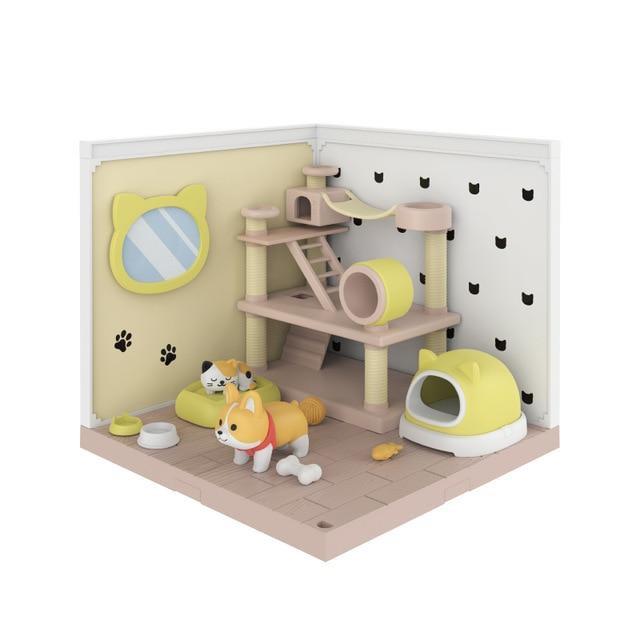 DIY Sweet Wooden Miniature Doll House PET ROOM