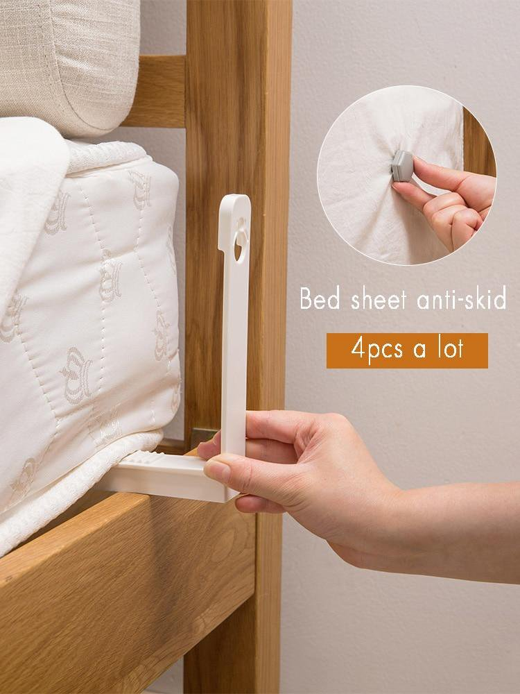 Bed Sheets Holder Clips WHITE 8PCS
