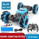 RC 4WD Radio Control Stunt Car Toy BLUE