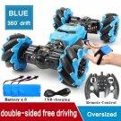 RC 4WD Radio Control Stunt Car Toy BLUE WITH WATCH REMOTE