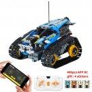 406PCS Technic RC Tracked Stunt Vehicle Toy BLUE
