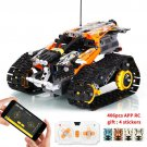 406PCS Technic RC Tracked Stunt Vehicle Toy ORANGE