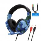 High Grade Led Light Wired Headset BLUE FOR PC
