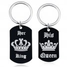 Couple Lovers Keychain HER KING / HIS QUEEN
