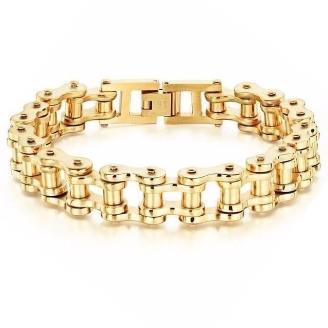Bikers Bracelets Link Chain GOLD