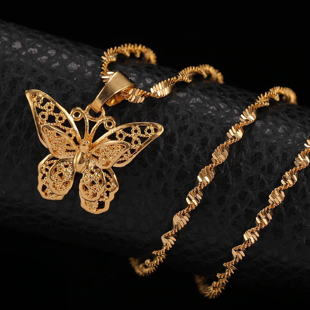 Butterfly Statement Necklace Pendant