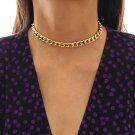 Miami Cuban Gold Color Collar Necklace