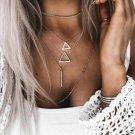 Triangle Bar Stick Pendant Necklace