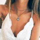 Multilayer Stone Water Drop Necklace