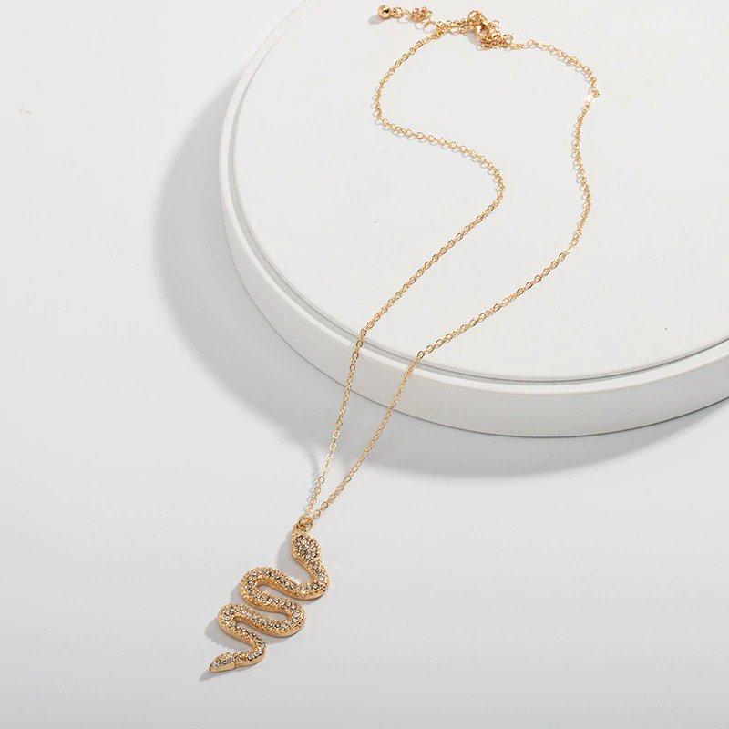 Snake Dangle Pendant Necklace
