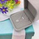 Zirconia Snowflake Silver Color Pendant Necklace