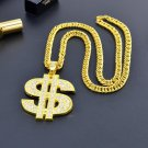 Dollar Sign Gold Color Pendant Necklace