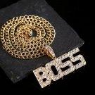 BOSS Letter Pendant Necklace