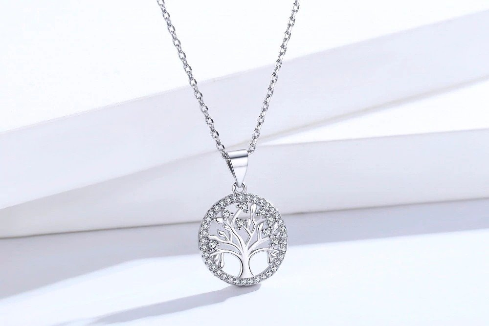 Life Tree Sterling Silver Pendant Necklace