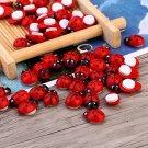 Mini Cabochon Ladybug 100pcs