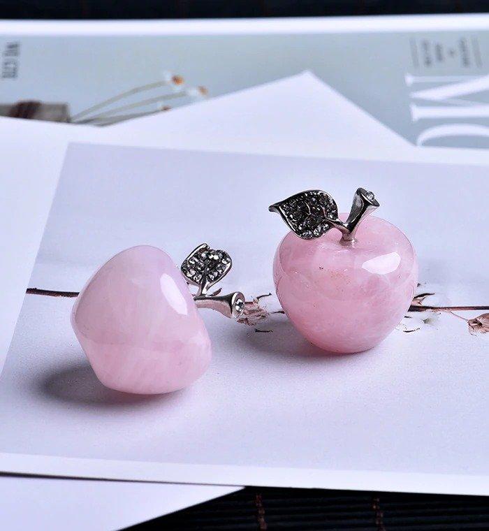 Natural Rose Quartz Pink Apple