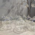 Clear Glass Ball Flower Hanging 10pcs