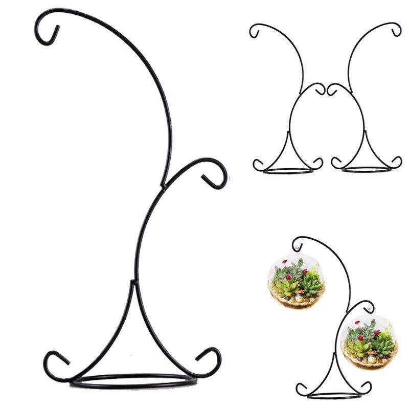 Hanging Design 33cm Double Hook Plant Glass