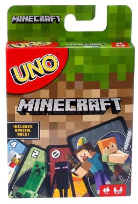 Minecraft Characters Print UNO Game