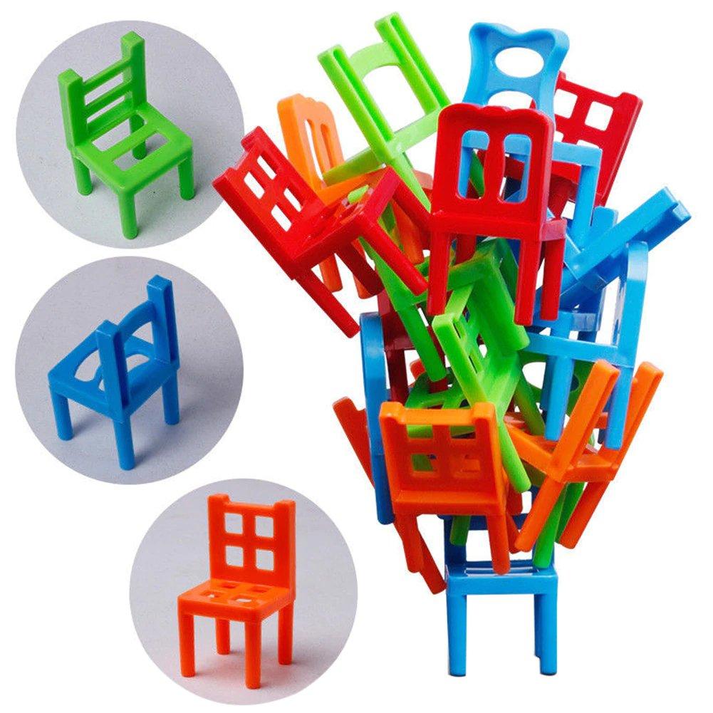 18Pcs Balance Chairs Board Game