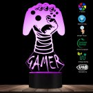 Video Game Controller Boy LED Table Lamp