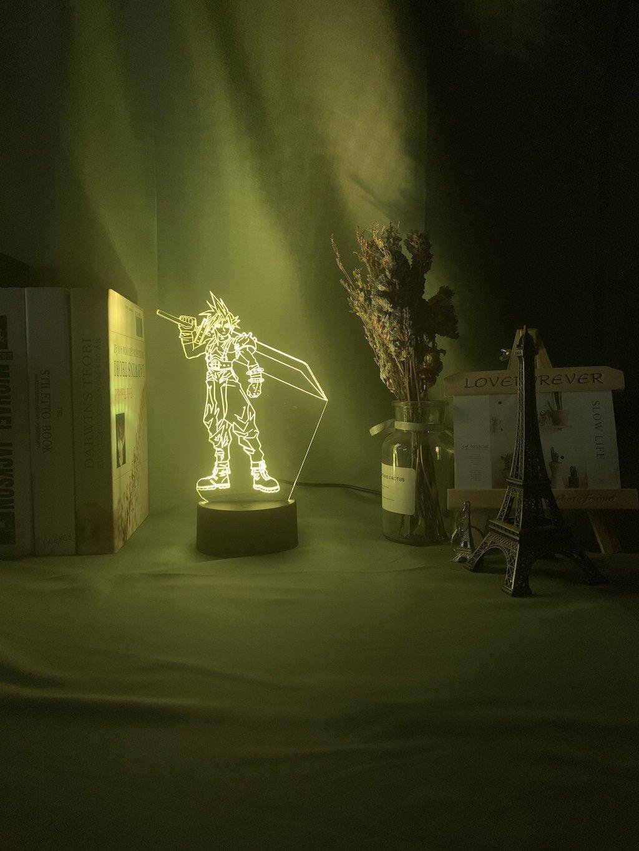 Final Fantasy Strife Figure LED Table Lamp