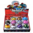 Pikachu Poke Ball 12 Pcs Set