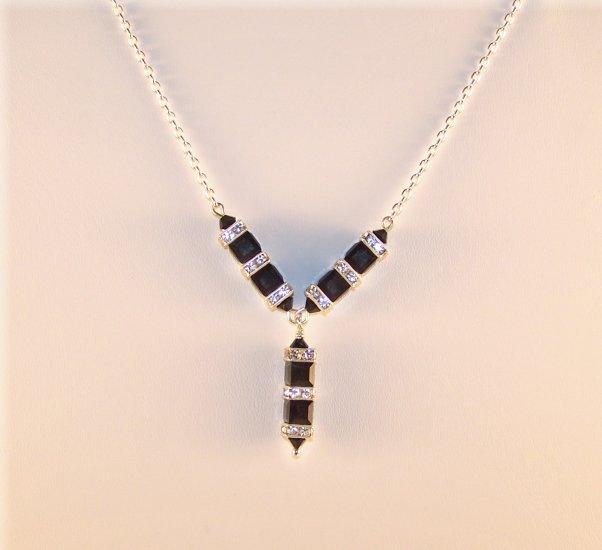 """Swarovski Crystal """"Y Column"""" Necklace"""